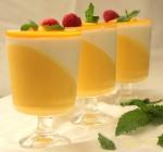 Mango-Vanilla Yogurt Panna-cotta
