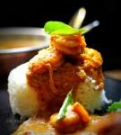 Kadugu Yeral Kuzhambu or Shrimp in MustardGravy