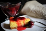 Ricotta Cheesecake with Cherry Compote